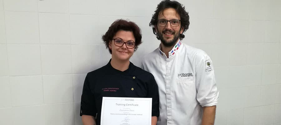 The pastry chef of Laurel Budapest visited Jordi Bordas's masterclass